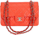One Kings Lane Vintage Chanel Orange Classic Double Flap Bag