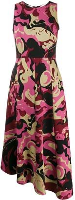 La DoubleJ abstract print sleeveless midi dress