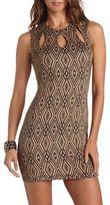 Charlotte Russe Cutout Diamond Print Dress