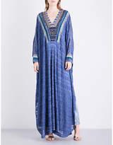 Missoni Bead-embellished metallic-knit kaftan