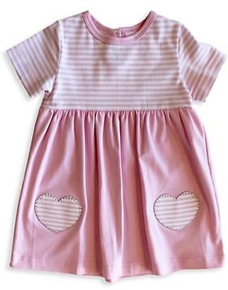 Florence Eiseman Baby Girl's Striped Pima Cotton Heart Dress