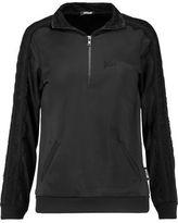 Just Cavalli Lace-Trimmed Jersey Sweatshirt