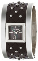 Steve Madden Studded Quilted Leather Bangle Watch