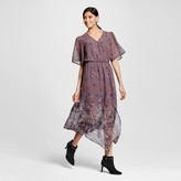 Xhilaration Women's Wrap Midi Dress Purple Juniors')