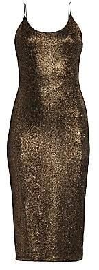 Alice + Olivia Women's Delora Glitter Midi Dress