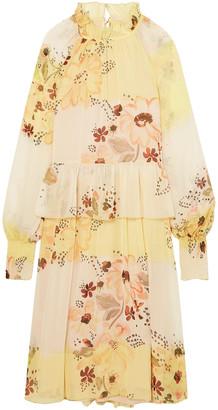 See by Chloe Tiered Floral-print Georgette Dress