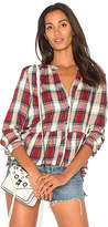 Splendid Edgware Plaid Button Up in Red. - size L (also in M,S,XS)