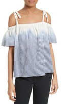 Milly Women's Eden Ombre Stripe Off The Shoulder Top