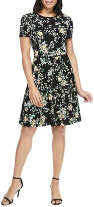 Maggy London Floral Pleated Skirt Dress