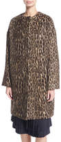 Brock Collection Cynthia Brushed Leopard-Print Caban Coat