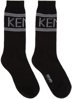 Kenzo Black Logo Sport Socks