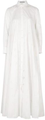 Palmer Harding Palmer//harding Casablanca White Cotton-blend Maxi Dress