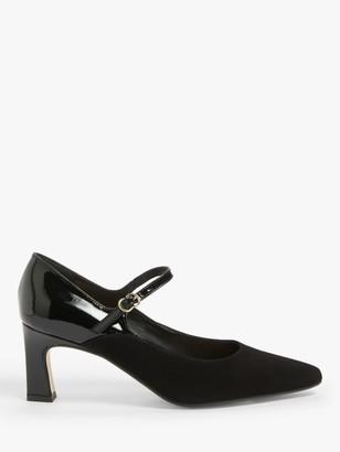 John Lewis & Partners Avery Leather Mary Jane Shoes, Black