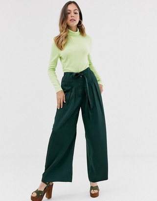 Moon River green wide leg trousers