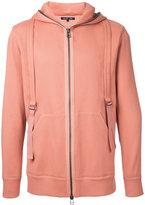 Helmut Lang zipped hoodie - men - Cotton/Spandex/Elastane - L