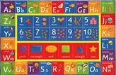"Kev & Cooper Playtime Collection ABC, Numbers and Shapes Educational Area Rug - 3'3"" x 4'7"""
