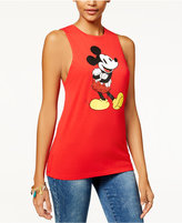 Disney Juniors' Embellished Mickey Mouse Graphic Tank Top