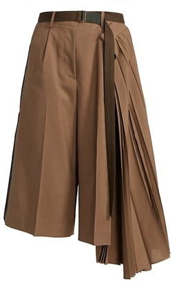 Sacai Cropped Pleated Suiting Pants