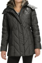 London Fog Down Quilted Puffer Coat - Removable Hood (For Women)