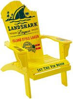 Margaritaville Outdoor Classic Wood Adirondack Chair in Yellow