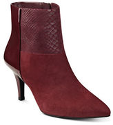 Anne Klein Yarisol Leather Blend Ankle Boots