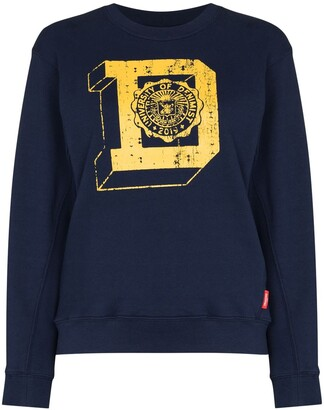 Denimist Logo Print Cotton Sweatshirt