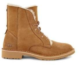 UGG Women's Quincy Shearling-Trimmed Lace-Up Boots