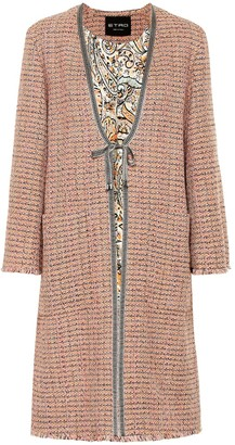 Etro Cotton-blend tweed coat