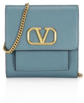 Valentino VLogo Leather Crossbody Bag