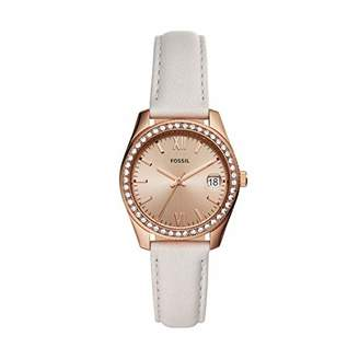 Fossil Women's Scarlette Mini Quartz Stainless Steel and Leather Casual Watch