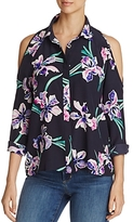 Yumi Kim Cold-Shoulder Floral Print Top