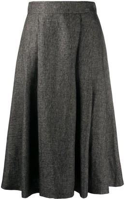 Societe Anonyme High-Waisted Checked Skirt