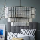 west elm Capiz Tiered Chandelier