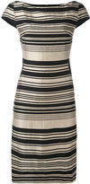 Gareth Pugh stripe panel dress - women - Silk/Cotton/Linen/Flax/Viscose - 40
