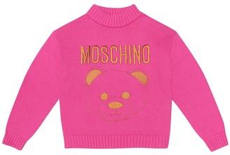 Moschino Kids Logo cotton-blend sweater