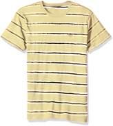 RVCA Young Men's Warped Stripe Vintage Wash Tee Shirt, -, M