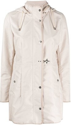 Fay Drawstring Hooded Parka Coat
