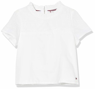 Tommy Hilfiger Girl's Broderie Anglaise TOP S/S T-Shirt