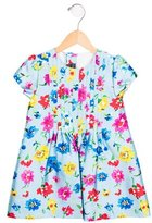 Oscar de la Renta Girls' Floral Print Silk-Blend Dress w/ Tags