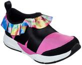 Skechers Girls' Sneakers HPMT - Hot Pink Metallic Shine Status Ruffled Up Slip-On Sneaker - Girls