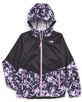 The North Face Girl's 'Flurry' Colorblock Hooded Wind Jacket