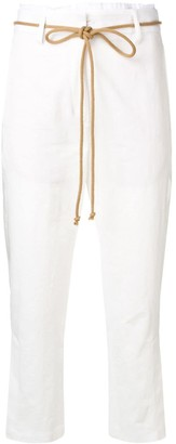 Ann Demeulemeester cropped tailored trousers