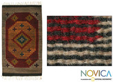 Novica Stargazer Geometric Muticolor Eco Friendly Natural Dyes 100% Wool Hand Woven Traditional Zapotec Decor Accent Area Rug (2x3)