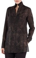 Akris Women's Shearling Print Wool Mousseline Tunic