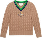 Gucci Children's wool sweater with tiger