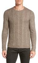 John Varvatos Men's Textured Knit Sweater