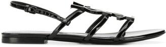 Saint Laurent Cassandra logo sandals
