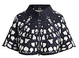 Alaia Women's Abstract Leopard Print Knit Bolero
