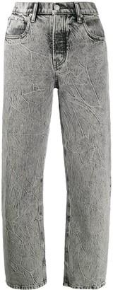 Alexander Wang High Rise Straight Leg Jeans