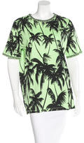 Fausto Puglisi Palm Print Oversized T-Shirt